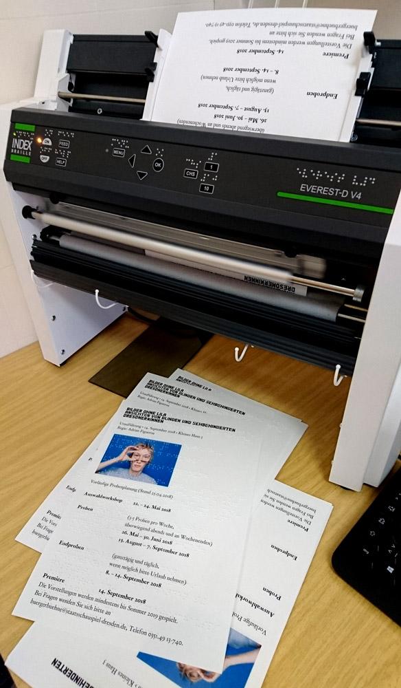 Wir bedrucken Flyer mit Braille