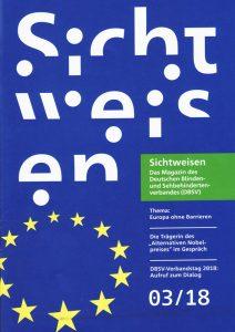 Das Cover der aktuellen Sichtweisen-Ausgabe
